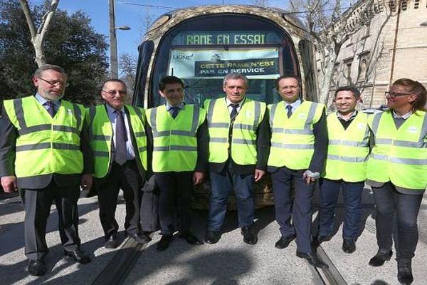 Montpellier - J-100 avant le bouclage de la ligne 4 de tram - 22 mars 2016.
