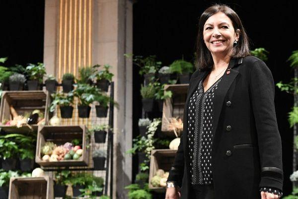Anne Hidalgo lors de la présentation des voeux le 10 janvier 2020 à Paris.