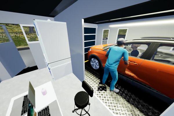 """A l'intérieur du module """"test2sens le personnel médical peut travailler en sécurité"""