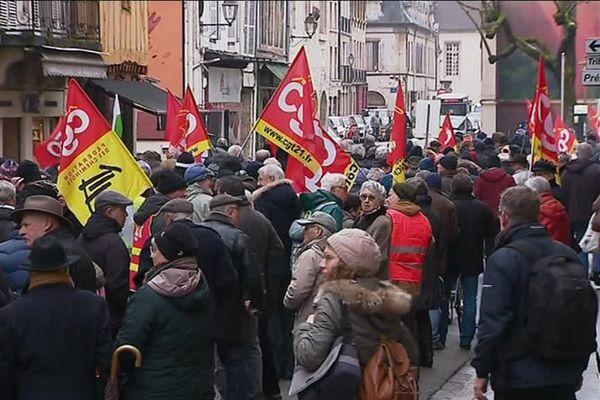 La manifestation des retraités le 31 janvier 2019
