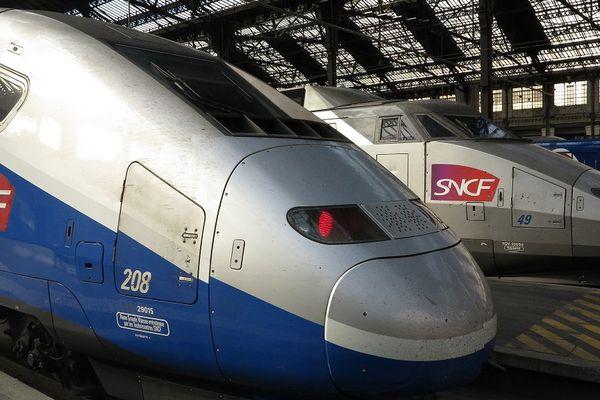 La gare de Lyon à Paris (illustration)