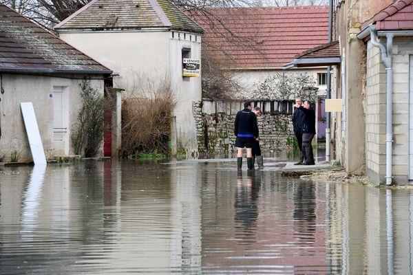 <p>Inondations en janvier 2018 dans le nord du Jura. Un scénarion qui pourrait bien se reproduire ces prochains jours avec les fortes précipitations annoncées et la fonte des neiges.</p>