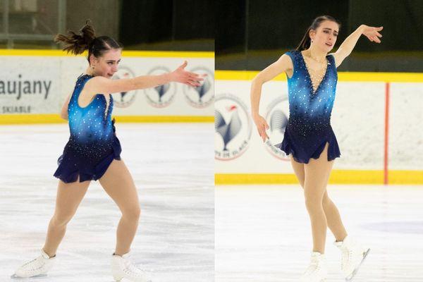 Léa Serna est sacrée championne de France de patinage artistique.