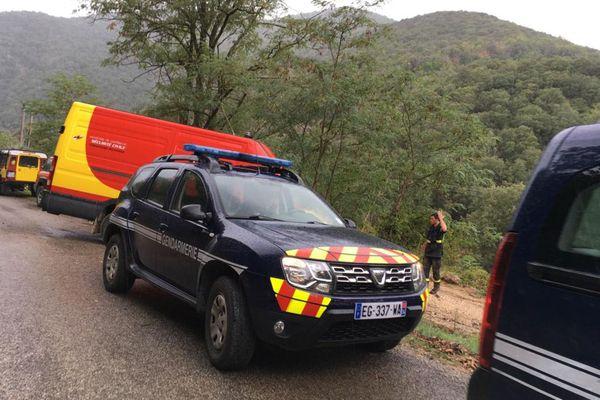 Intempéries à Taleyrac (Gard) : le secteur de recherches des personnes disparues, le corps d'un homme retrouvé - 22 septembre 2020.