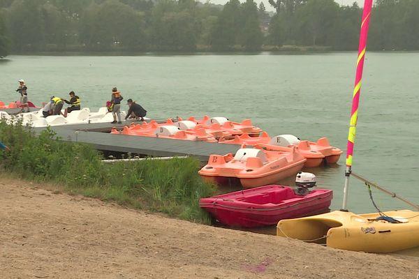 La base de loisirs du lac de Brionne (Eure) le 31 juillet 2019