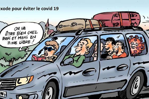 Avec humour, Placide croque les confinés du dimanche...