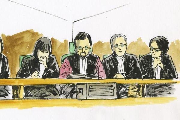 La cour au procès Marina