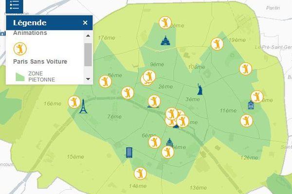 Consultez toutes les animations par quartiers sur le site http://www.paris.fr/journeesansvoiture