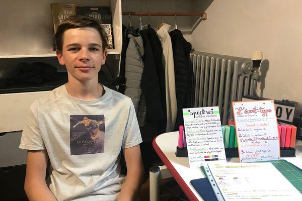 Vladimir Vallotton, jeune Tarnais de 14 ans, a créé un site internet collaboratif pour partager gratuitement des fiches de révision.