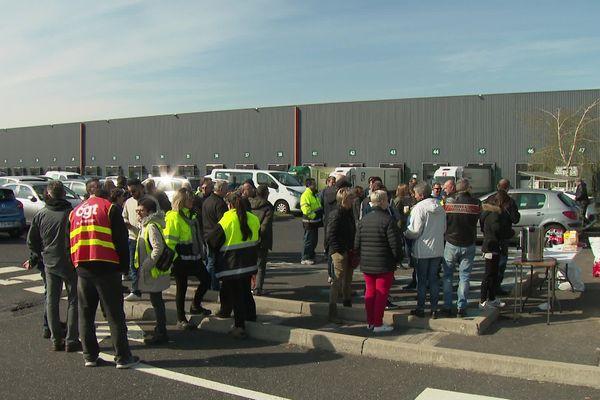 Saint-Bonnet-les-Oules (Loire) - Grève des salariés Easydis, plateforme du groupe Casino - 9/4/19
