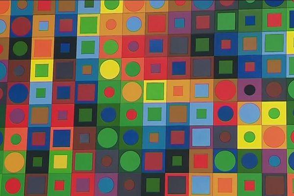 Détails d'une oeuvre de Victor Vasarely