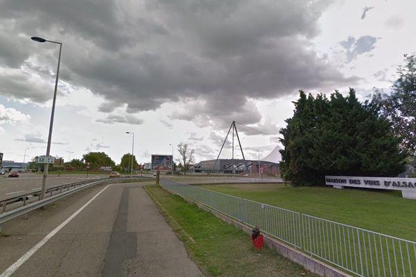 L'accident a eu lieu près du Conseil interprofessionnel des vins d'Alsace (Civa), à Colmar.
