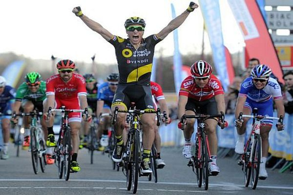 Etoile de Bessèges : Sylvain Chavanel remporte la 3e étape, 152km autour de Bessèges - 5 février 2016.