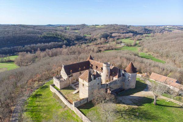 Le château de Pechrigal, situé sur la commune de Saint-Clair, près de Gourdon