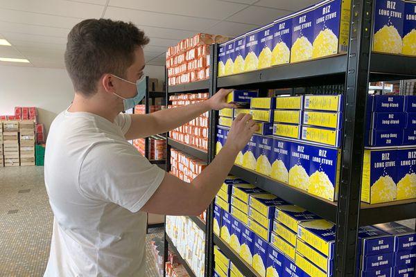 A Mont-Saint-Aignan, la prochaine distribution de paniers alimentaires est préparée par la FEDER des étudiants rouennais