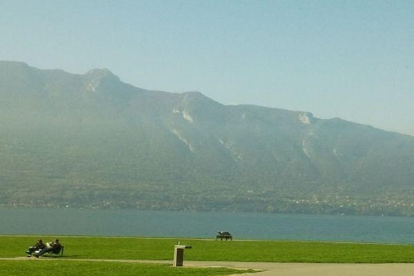 Ils prennent le soleil au bord du lac du Bourget