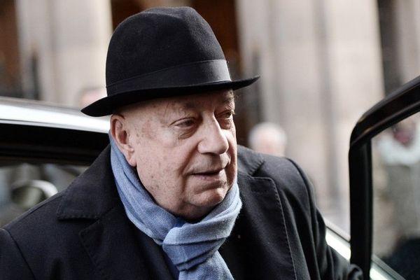 Hervé Bourges aux obsèques de Jacques Chancel en 2015