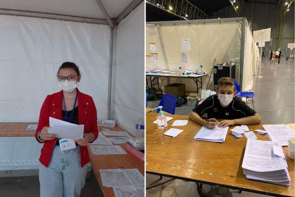 Ely a 14ans, Matt en a 16. Cet été, au lieu de profiter des vacances, ils ont préféré s'engager en tant que bénévoles au vaccinodrome de Douai.