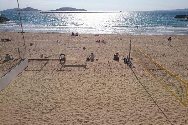 Illustration de la plage des Catalans