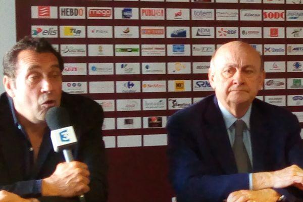 Didier Nourault, à gauche, aux côtés de Michel Martin, président du conseil de surveillance