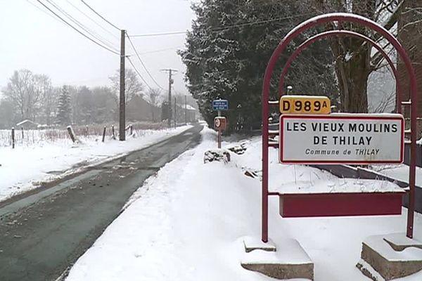 Pendant les épisodes de neige, l'entraide prime dans ce hameau / Les-Vieux-Moulins-de-Thilay, le 7 février 2018