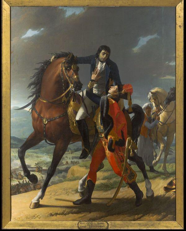 Jean-Baptiste REGNAULT (1754-1829), La Mort de Desaix à Marengo, vers 1810, huile sur toile