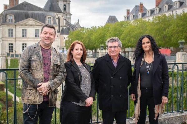 Les candidats du canton de Blois 3 : Freddy Beauvais (remp.), Maria Isabel Garcia, Jean Vitoria et Christine Vogère (remp.)