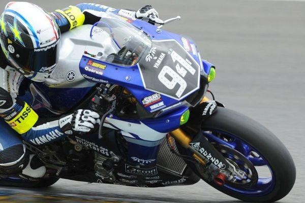 Le pilote Kenny Foray (ici, le 17 avril 2015) doit s'élancer en sicxième position, à bord de sa Yamaha, en formule EWC.