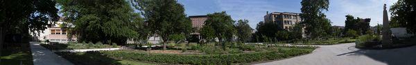 Panorama du jardin Dominique-Alexandre Godron en juin 2021 après sa restauration.