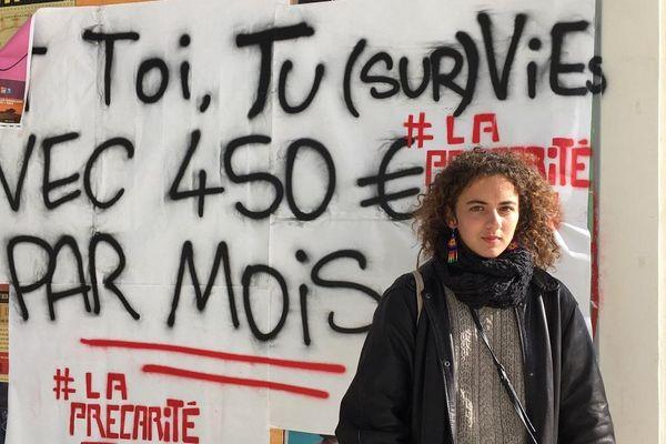 Alberta, étudiante en 2ème année de socio-économie à l'Université Jean Jaurès Le Mirail
