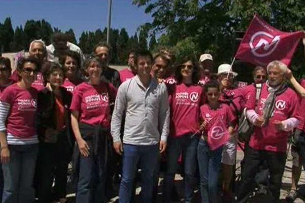Les militants de Nouvelle Donne à Marseillette dans l'Aude 18/05/2014