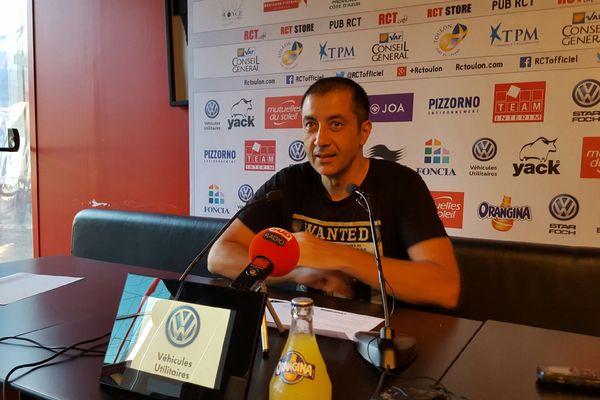 Mourad Boudjellal lors de la conférence ce vendredi.