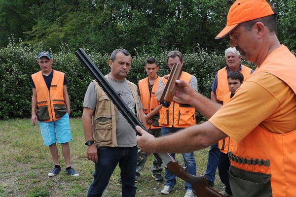 Une épreuve pratique de l'examen du permis de chasse