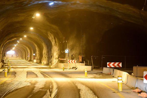 Le tunnel du Chambon photographié le 17 décembre 2016.