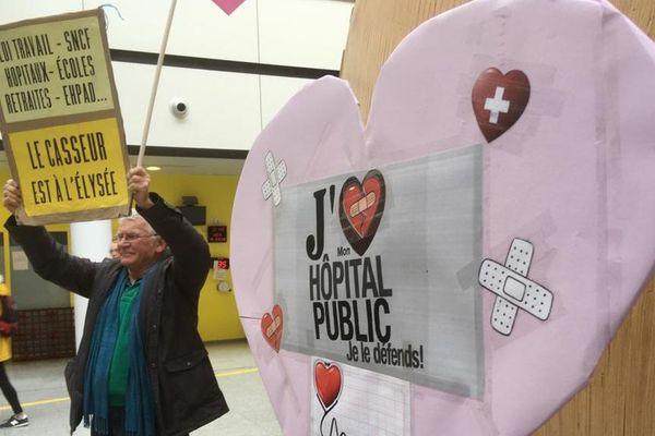 CHU de Caen : déclaration d'amour au service public le 14 février 2020
