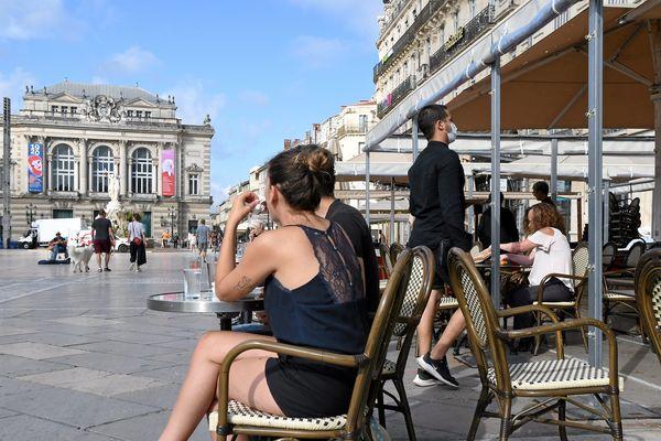 La place de la Comédie, à Montpellier, le 2 juin 2020.