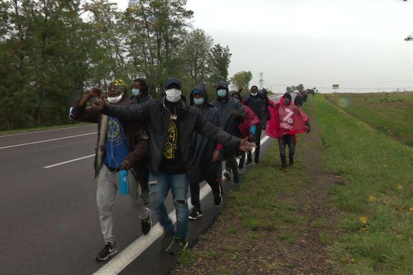 Les marcheurs étaient en Saône-et-Loire mardi 6 octobre.