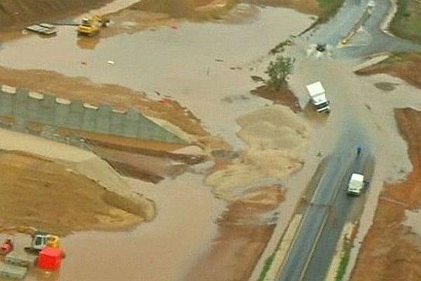 Hérault - les environs de Montpellier entre dégâts et inondations - 30 septembre 2014.