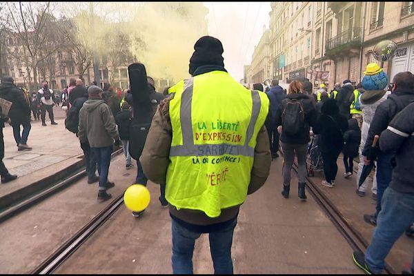 Manifestation des gilets jaunes à Nancy samedi 6 février