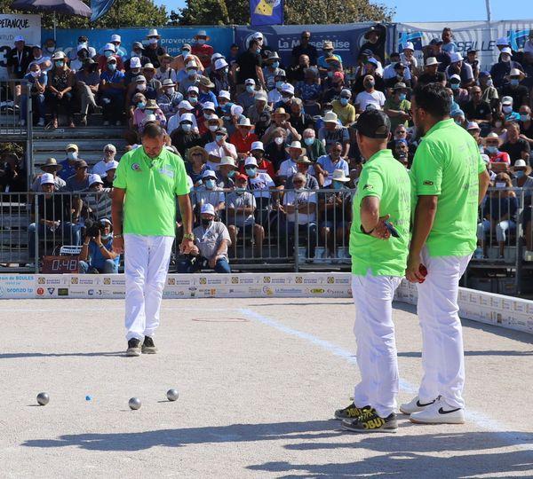 La triplette Puccinelli en finale de la 59e édition du Mondial La Marseillaise à pétanque.