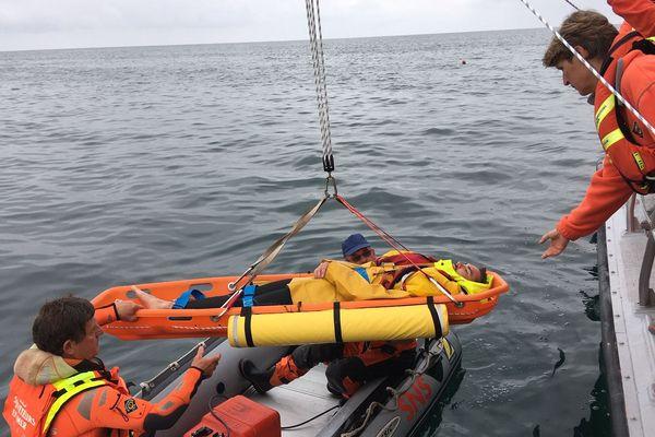 Exercice de sauvetage par la SNSM d'Audierne