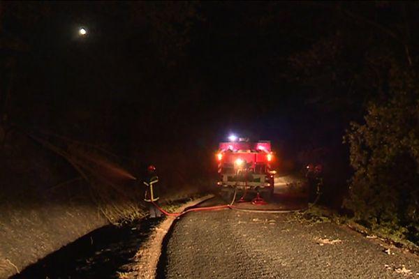 Intervention des pompiers sur les incendies de Lignac et Chalais dans l'Indre