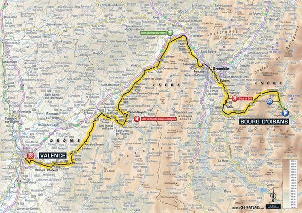 La carte de la 13e étape du Tour 2018