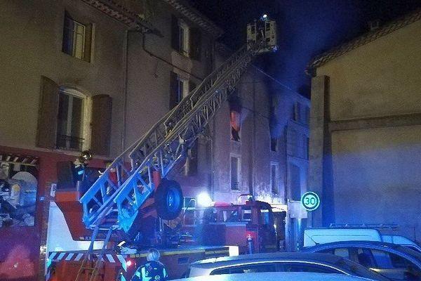 Lasalle (Gard) - un appartement ravagé par les flammes - 9 juin 2018.