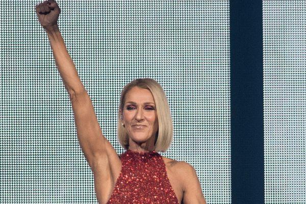 """La chanteuse canadienne Céline Dion au départ de sa tournée mondiale  """"Courage"""" à Québec, au mois de septembre 2019"""