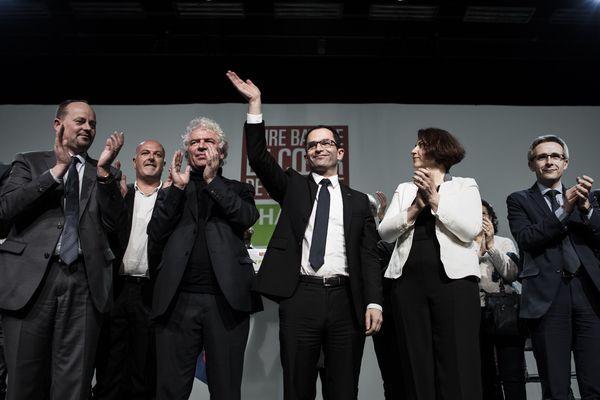 Benoît Hamon après son discours à Brest