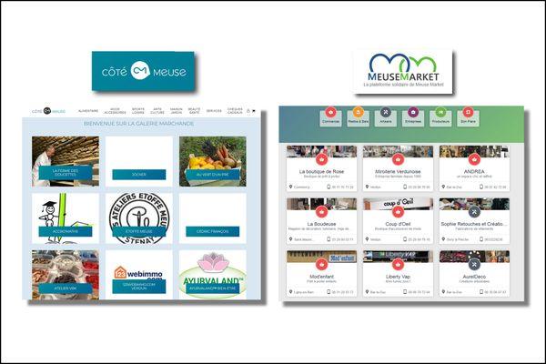 Les deux plateformes de commerce en ligne meusiennes n'ont pas le même fonctionnement, mais elles vont dans le même sens, pour aider les commerçants locaux à être visibles sur internet