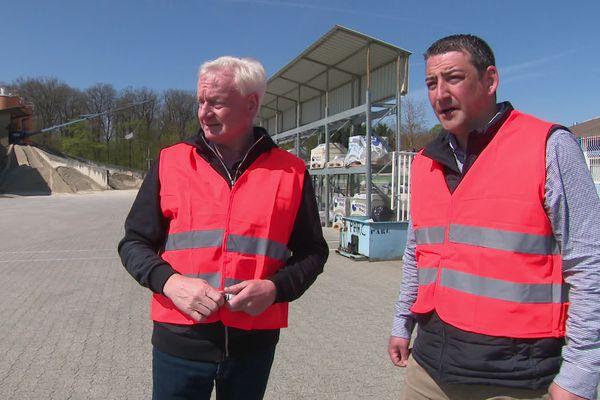 Patrick Heinrich (à gauche) est à la tête d'une entreprise en pleine croissance.