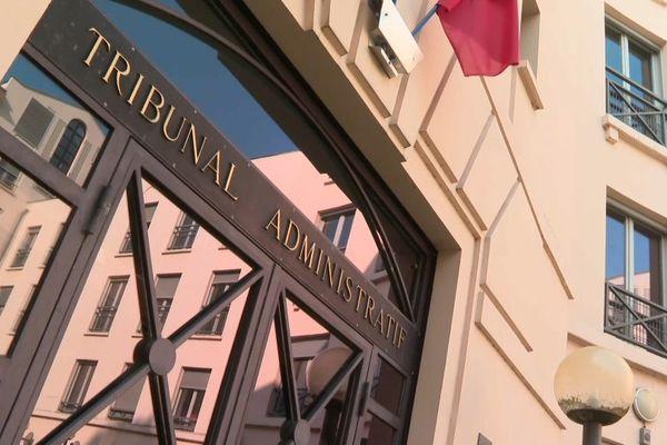 L'entrée du tribunal administratif de Versailles