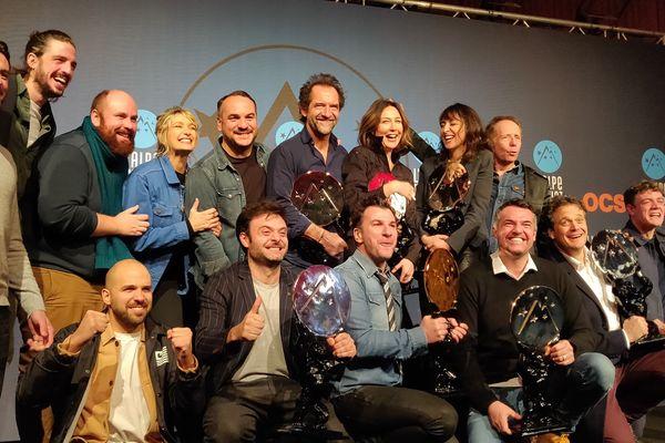 Les lauréats de l'Alpe d'Huez 2020 lors de l'annonce du palmarès samedi 18 janvier.